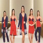 Polat Yıldız 44411 Bayan 5li Uyku Giyim Seti Özel Kutusunda