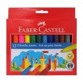 Faber Castel Keçeli Kalem 12 Renk Jumbo