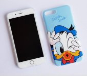 ı Phone 7 8 Blue Donald Duck Telefon Kılıfı
