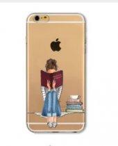 ı Phone 6 6s Bookstore Girl Telefon Kılıfı