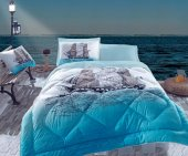 Cotton Box Maritime Ship Ranforce Tek Kişilik Uyku Seti Mavi