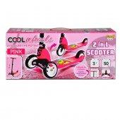 Cool Wheels Hem 3 Teker Hem 2 Teker Dönüşebilen Scooter Pembe