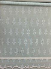 Brillant Çifli Sistem Tül Stor Perde Mint Yeşili Renk A Kalite