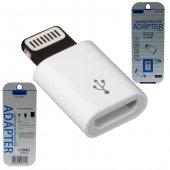 Apple İphone 7 Plus Mn4w2tua Çevirici Micro Usb To Lightning Dönüştürücü 2.1 Amper Kablo Şarj
