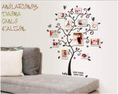 Aile Soy Ağacı Fotoğraf Albümlü Ağaç Duvar Resmi Dekor Çıkartması