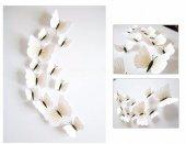 Yüksek Kaliteli Üç Boyutlu Renkli Kelebekler Kelebek Sticker Pvc