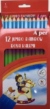 Alper 12 Jumbo Raınbow Boya Kalemi