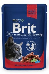 Brit Premium Cat Pouches With Beef Stew & Peas 100 Gr