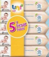 Uni Soft Islak Bebek Havlusu 5 Li Fırsat Paketi 56 Lı +mini Hedi