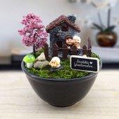 Birlikte Yaşlanalım Yazılı Özel Minyatür Bahçe