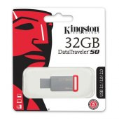Kingston 32gb Usb3.1 Memory Dt50 32gb Metal Kırmız