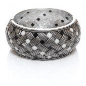 Biggbijoux Hathor Hasır Kelepçe Gümüş Renkli