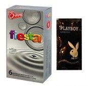 Fiesta Vibe 6 Lı Prezervatif Ve Titreşimli Halka Seti (5 Adet Kaydırıcı Jel Hediyeli)