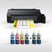 For Use In Epson L1300 Its Photoink 4 Renk Bitmeyen Kartuşlu A3+