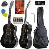 Klasik Gitar Hidalgo Mh860 Siyah Sap Ayarlı Tam Boy Gitar