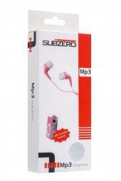 Metal Mp3 Çalar Kulaklık Hediyeli Pembe Renk