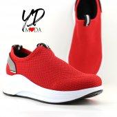 Keçeli 1805 Kırmızı Rahat Günlük Kadın Ayakkabı