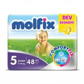 Molfix Junior 5 No Bebek Bezi Dev Eko Paket 11 18 Kg 48 Adet