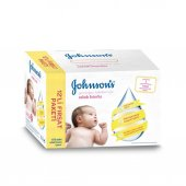 Johnsons Baby Yenidoğan Parfümsüz Islak Havlu Mendil 12x56