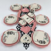 Keramika Romeo Retro Pembe 26 Parça 6 Kişilik Kahvaltı Takımı