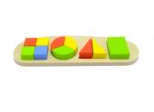 Ahşap Geometrik Bultak Oyunu Ahşap Şekilli Eğitici Oyuncak