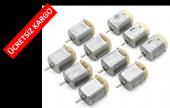 Deneyler İçin Elektrik Motoru (3v Dc) 10 Adet