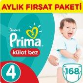 Prima Pants Külot Bebek Bezi 4 Beden Maxi Jumbo Aylık Fırsat Paketi 168 Adet