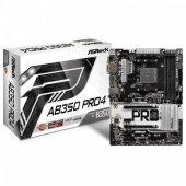 Asrock Ab350 Pro4 , 2x Pcıe X16, 3200+mhz(Oc)(Ryzen) Ddr4, 2400mhz(Apu), Atx Am4 Anakart