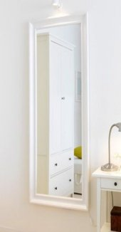 Beyaz Boy Banyo Salon Antre Koridor Şifonyer Komodin Duvar Aynası