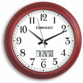 Dijital Isı Göstergeli Termometreli Tarih Göstergeli Duvar Saati