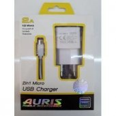 2.0 Amper Mıcro Usb Şarj Cihazı 2.1a Başlık+data Kablo Kit Aurıs