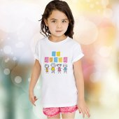 Kişiye Özel 23 Nisan Tasarımlı Beyaz Çocuk Tişört (10 Adet) K