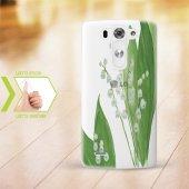 Kişiye Özel Lg G3 İnce Şeffaf Silikon Telefon Kapağı (Yaprak Tema