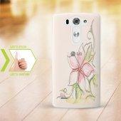 Kişiye Özel Lg G3 İnce Şeffaf Silikon Telefon Kapağı (Çiçek Temal
