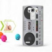Kişiye Özel Lg G4 İnce Şeffaf Silikon Telefon Kapağı (Kaset Temal