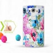 Kişiye Özel Lg G4 İnce Şeffaf Silikon Telefon Kapağı (Çiçek Temal