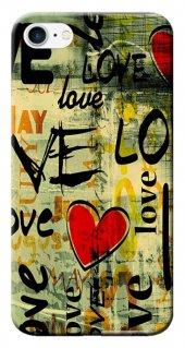 Iphone 6 6s Kılıf Silikon Baskılı Kalp Graffiti Stk 119