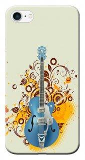 Iphone 6 6s Kılıf Silikon Baskılı Mavi Gitar Stk 129