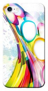 Iphone 6 6s Kılıf Silikon Baskılı Renk Akışı Stk 156