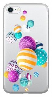 Iphone 6 6s Kılıf Silikon Baskılı Renkli Toplar Stk 337