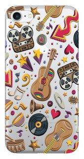 Iphone 6 6s Kılıf Silikon Baskılı Müzik Fest Stk 346