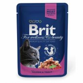 Brit Premium Cat Pouches Somon Balıklı Kedi Konservesi 100 Gr