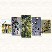 Cadran Wood Art Collection 5 Parçalı Mdf Tablo Esc143