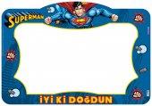 Superman Doğum Günü Partisi Hatıra Fotoğraf Çerçevesi, Süpermen