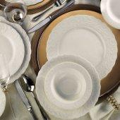 Kütahya Porselen Bone Başak 24 Parça Yemek Seti Dekorsuz