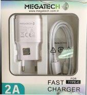 Megatech Cc01 1a 2in 1 Type C Kablo & Şarj Cihazı