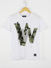Plus Eighteen W Camo Rover T Shirt Beyaz