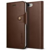 Vrs Design İphone 7 Plus Native Diary Series Deri Kılıf Dark Brown