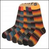 Faik Oktay Erkek Özel Günlük Colorful Çorap 6'lı Paket