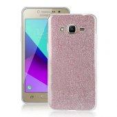 Samsung Grand Prime Plus (G532) 3 İn 1 Simli Silikon Arka Kapak P